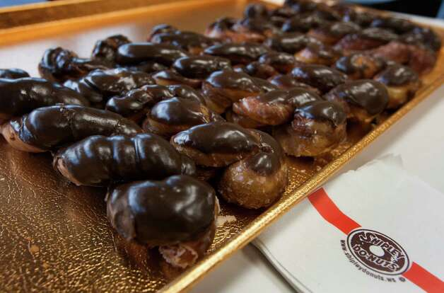 "Shipley Do-Nuts, Houston's iconic doughnut chain, will introduce the ""Hoffy Twist"" this week, the first sweet treat to join Ken Hoffman's collection of food named after him. Houstonchronicle.com has the scoop how this all came about.  Photo: J. Patric Schneider, For The Chronicle / © 2013 Houston Chronicle"