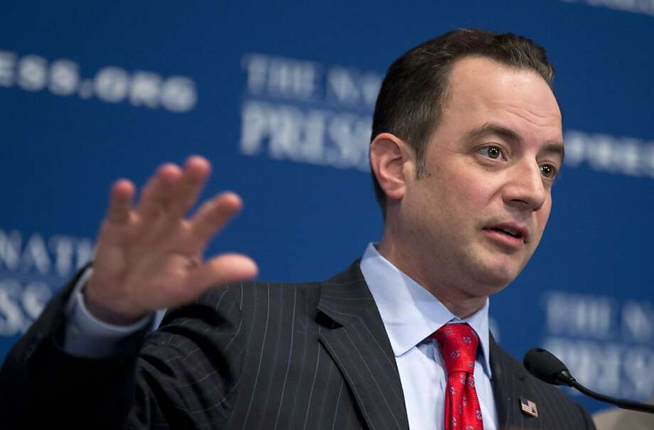 Republican National Committee Chairman Reince Priebus speaks at the National Press Club in Washington, discussing the importance of immigration reform and outlining the GOP's strategy. Photo: Manuel Balce Ceneta, Associated Press