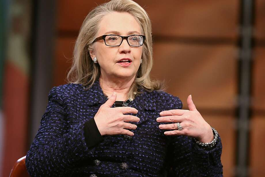 Hillary Rodham Clinton may be signaling an intent to run for president in 2016. Photo: Chip Somodevilla, Getty Images