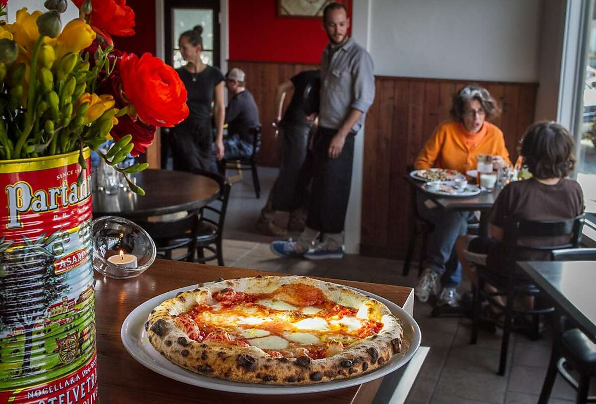 """The """"Benchmark"""" pizza at Benchmark Pizzeria in Kensington, Calif., is seen on Saturday, March 16th, 2013."""