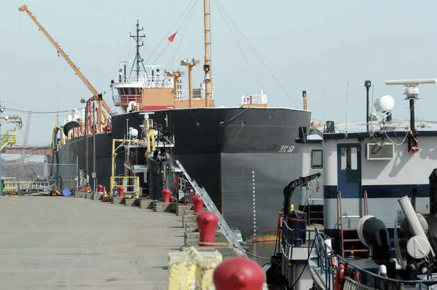 A large cargo ship is seen docked at the Port of Albany  on Monday, March 18, 2013 in Albany, NY.  A press conference was held at the port on Monday to announce that the Albany Fire Department would be purchasing a rescue boat to be used at the port and the area communities.  (Paul Buckowski / Times Union) Photo: Paul Buckowski