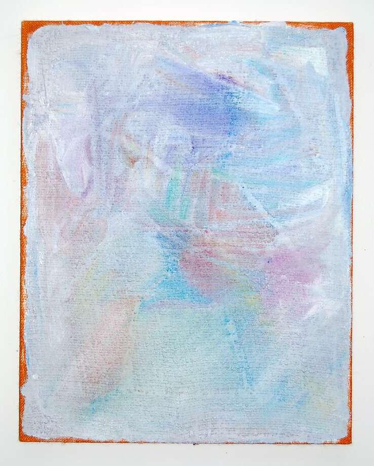 "Evan Nesbit's ""Fingered Study,"" mixed-media painting (2013). Photo: Courtesy Of The Artist"