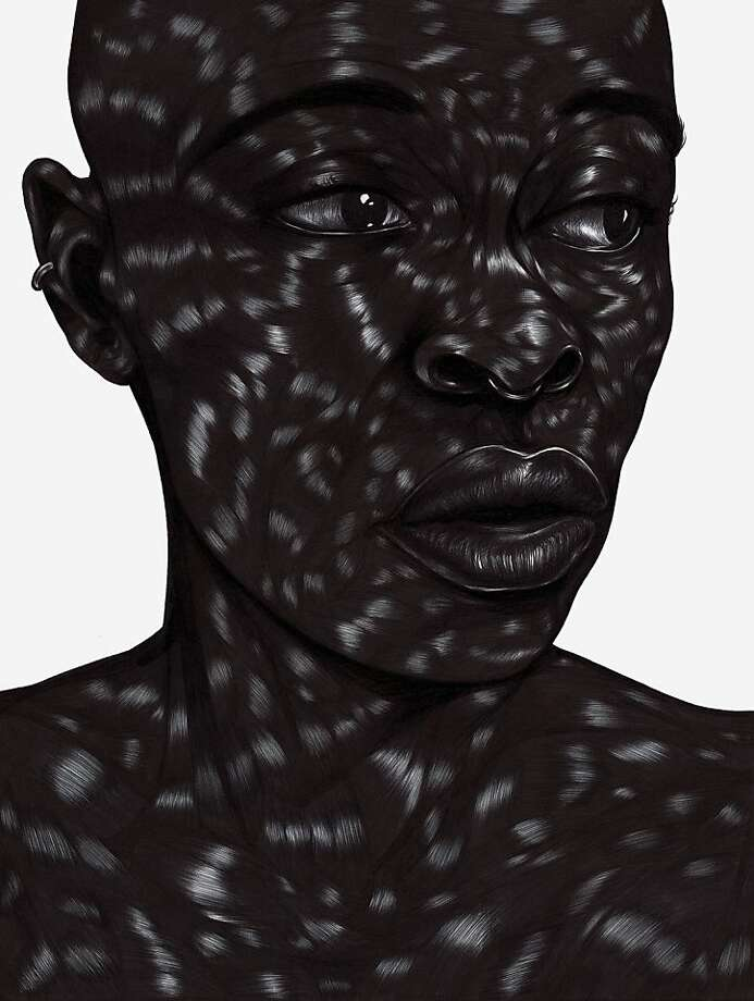 "Toyin Odutola's ""Whenever the occasion arises"" Pen ink and marker on paper  9 x 12 inches (2012) Courtesy of the Artist & Jack Shainman Gallery, New York Photo: Courtesy Of The Artist & Jack Sh"