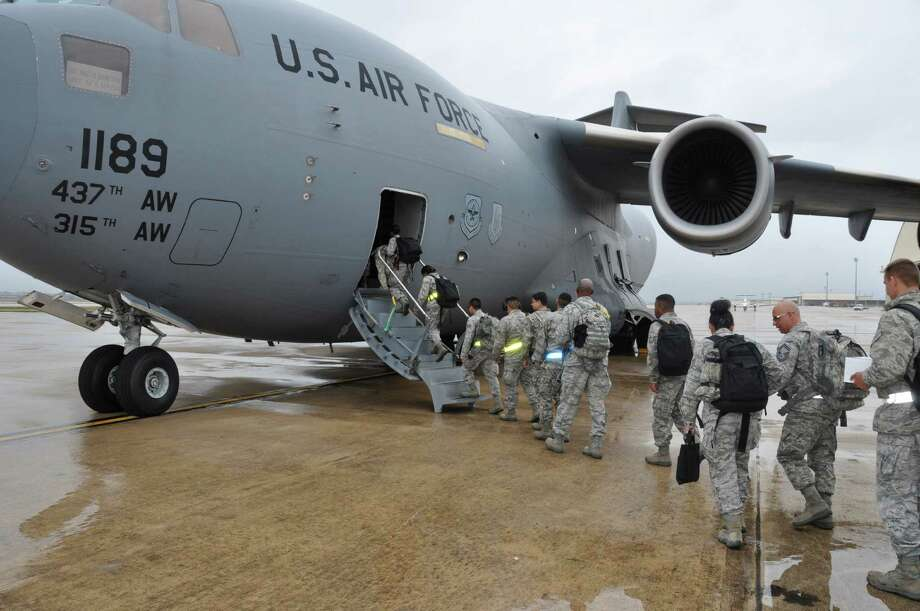 Two aerial port squadrons from the 433rd Airlift Wing on Port San Antonio departed March 9 for training in South Carolina and Delaware. Photo: U.S. Air Force