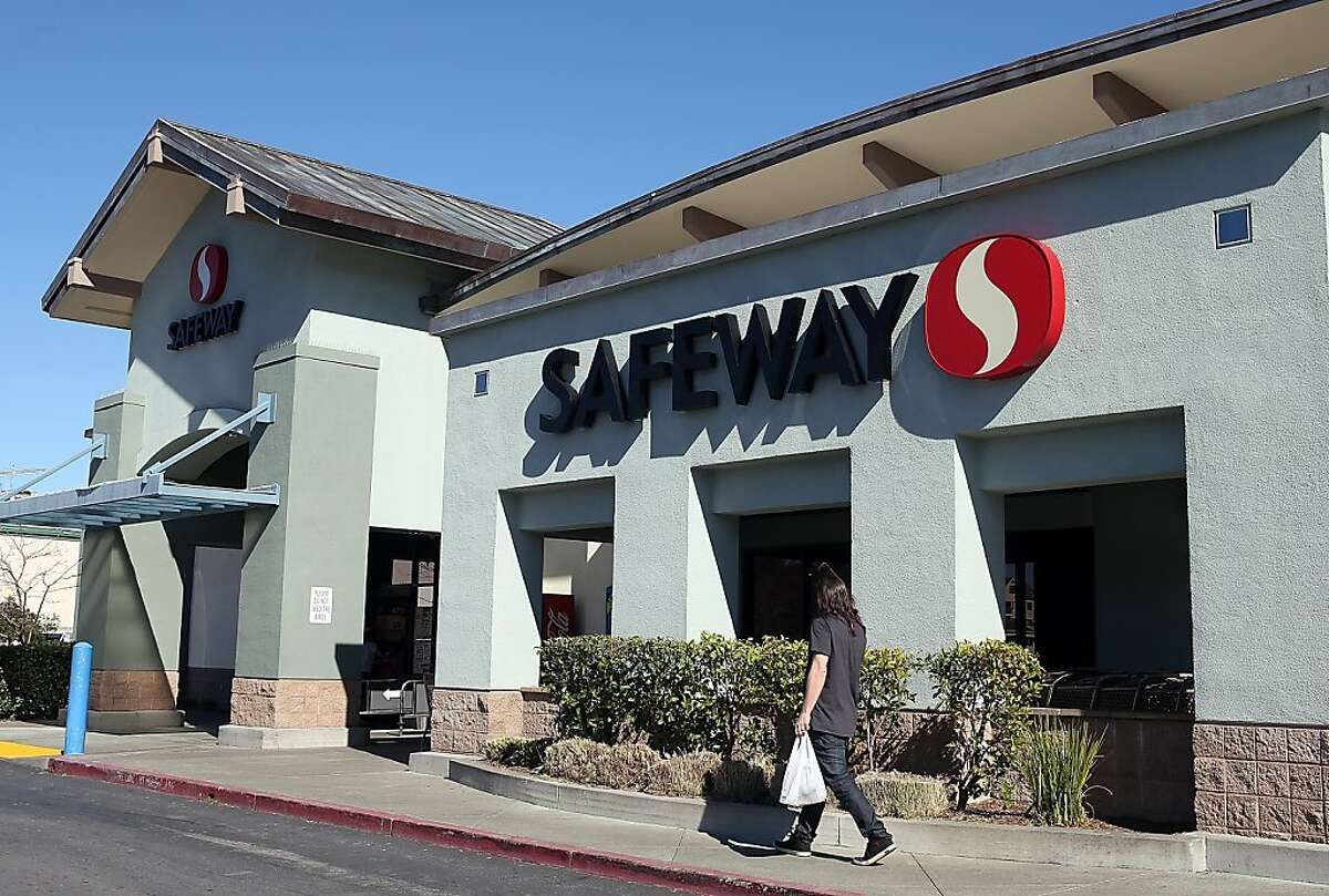 A customer leaves a Safeway in San Rafael. The company's Blackhawk subsidiary is a growing player in gift cards.