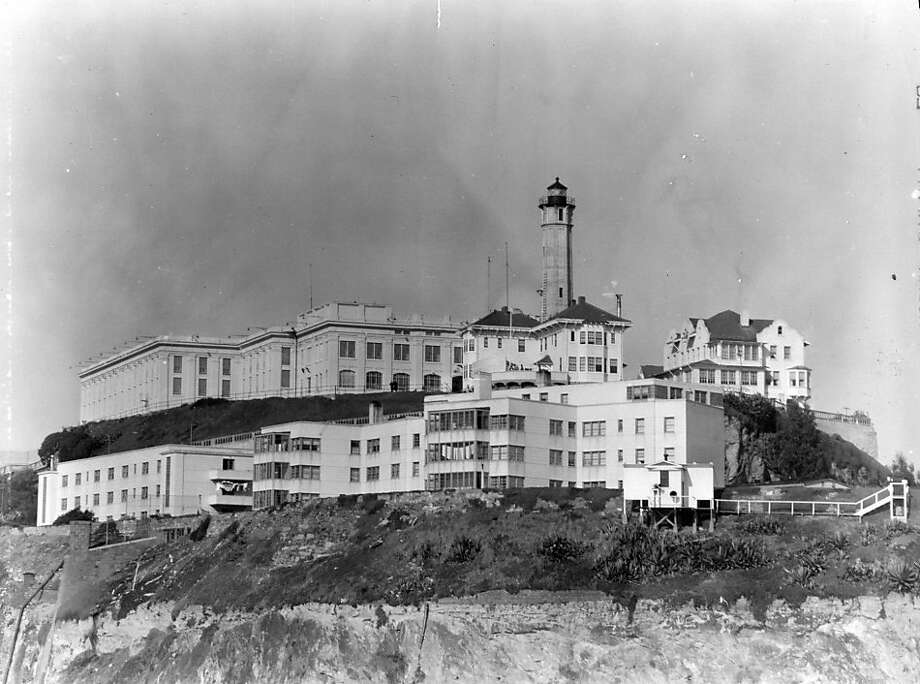 A photo of Alcatraz prison in 1954. Photo: Associated Press