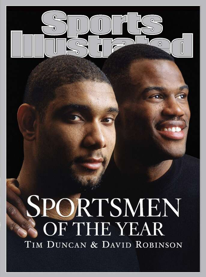 Sports Illustrated cover of Tim Duncan and David Robinson being named SI's 2003 Sportsmen of the Year Photo: SPORTS ILLUSTRATED