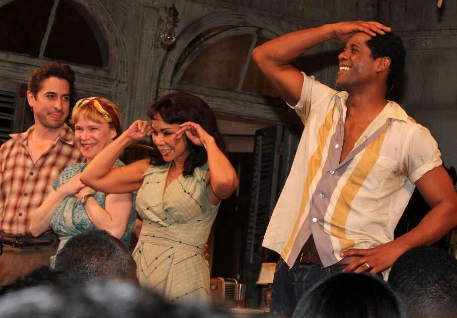 Most recently he playing the lead role of Stanley in the Broadway revival of A Streetcar Named Desire. That show closed in July, but after 105 performances. He is seen here with (L-R) Matthew Saldivar, Amelia Campbell, Daphne Rubin Vega taking the opening night curtain call at The Broadhurst Theatre on April 22, 2012 in New York City.