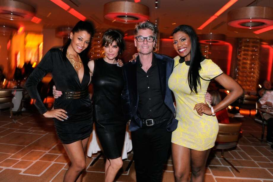 Television personality Claudia Jordan, actress Lisa Rinna, Hamlin and television personality Omarosa Manigault appear at Andrea's at Encore Las Vegas to celebrate the season premiere of  All-Star Celebrity Apprentice on March 2, 2013 in Las Vegas, Nevada.