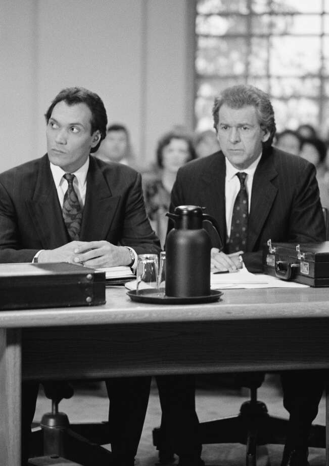 Yes, there are a lot more great actors and characters in the show, but we just couldn't to them all. So, we'll close out with a run of scenes from the show.Air Date 05/17/1990: The Last Gasp -- Episode 22 -- Pictured: (l-r) Jimmy Smits as Victor Sifuentes and actor Peter Riegert.