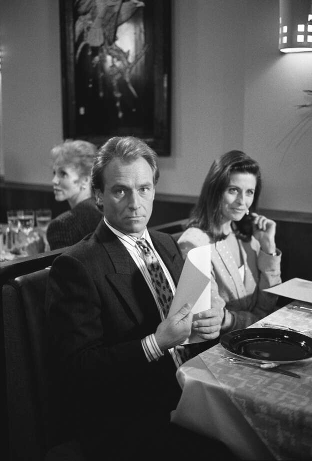 The Last Gasp -- Episode 22 -- Aired 05/17/1990 -- Pictured: (l-r) Corbin Bernsen as Arnie Becker, Jennifer Hetrick as Corrine Hammond.