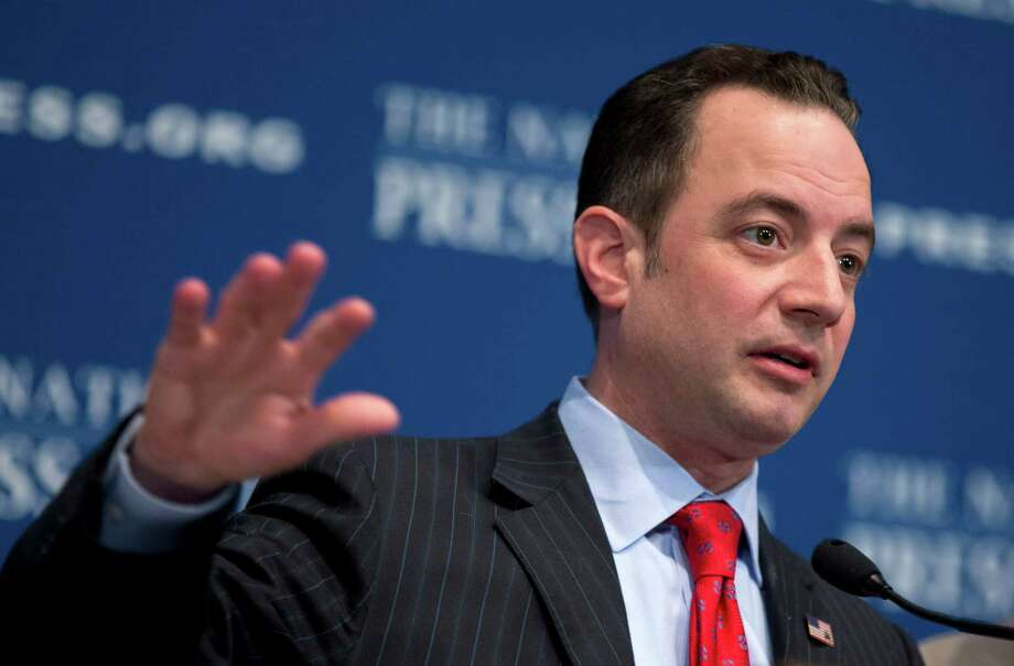 "Republican National Committee (RNC) Chairman Reince Priebus gestures while speaking at the National Press Club in Washington, Monday, March 18, 2013. The RNC formally endorsed immigration reform on Monday and outlined plans for a $10 million outreach to minority groups _ gay voters among them _ as part of a strategy to make the GOP more ""welcoming and inclusive"" for voters who overwhelmingly supported Democrats in 2012.   (AP Photo/Manuel Balce Ceneta) Photo: Manuel Balce Ceneta, Associated Press / AP"