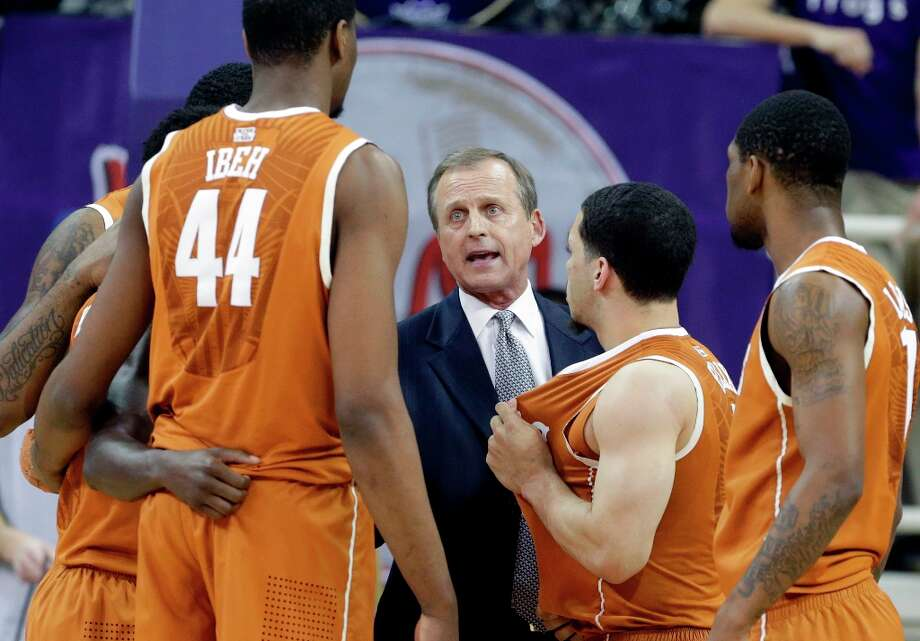 7. Texas (16-17)— Rick Barnes said the extra games are critical for his young freshmen and sophomore-laden team — even if it will be in something called the CBI Tournament. Photo: LM Otero, Associated Press / AP