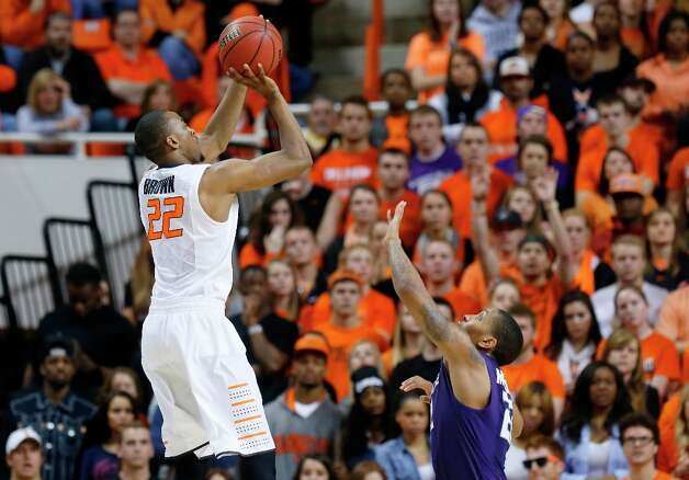 Not: Oklahoma State G Markel Brown — His numbers have dipped in recent games, notching averages of 12.3 points per game and shooting 36.1 from the field in his last three games. Photo: Sue Ogrocki, Associated Press / AP