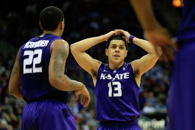 Not: Kansas State G Angel Rodriguez — The Wildcats' point guard has maintained his double-figure streak for scoring, now at 13 games. But his shooting has really tailed off as he's shooting 29.4 percent from the field and 23.0 percent of his two-point shots in his last four games. Photo: Jamie Squire, Getty Images / 2013 Getty Images