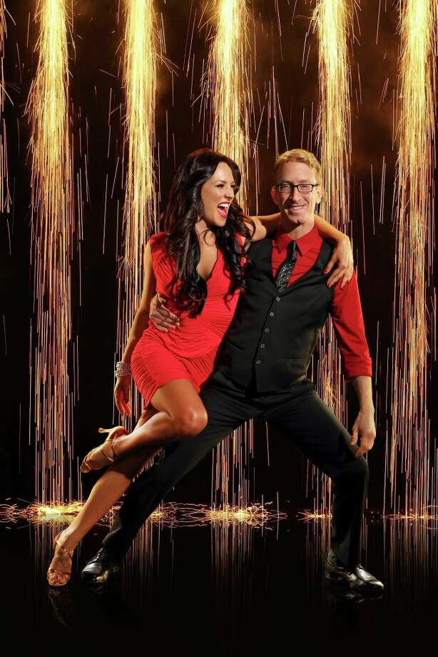 American comedian, actor, writer, director, musician and producer, Andy Dick joins first time professional partner Sharna Burgess.