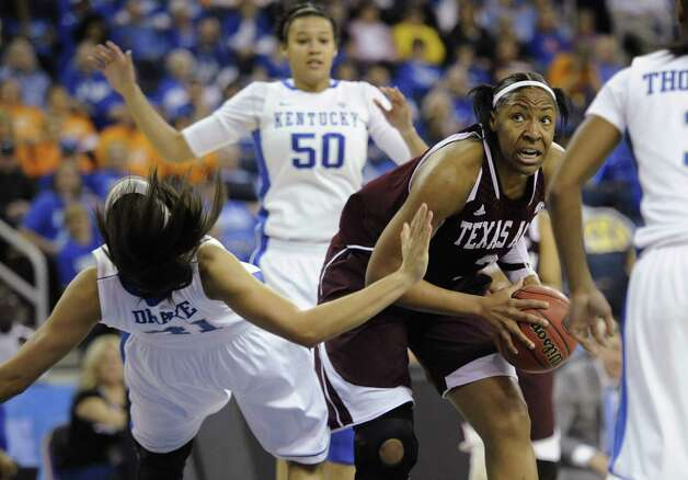 Center Kelsey Bone and the Aggies will open the NCAA tournament at home against Wichita State. Photo: John Amis / Associated Press