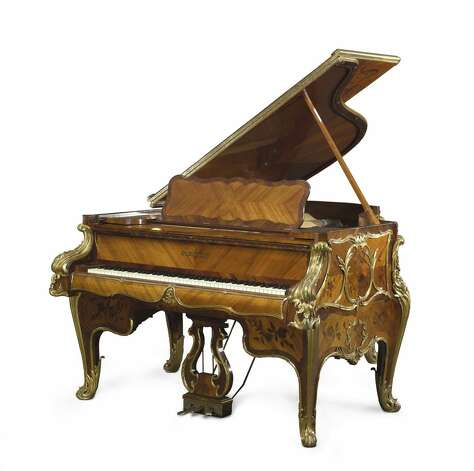 The grand piano that resided for decades at the St. Anthony Hotel's Peacock Alley cocktail lounge was last seen there in 1993. Photo: Bonhams / Courtesy