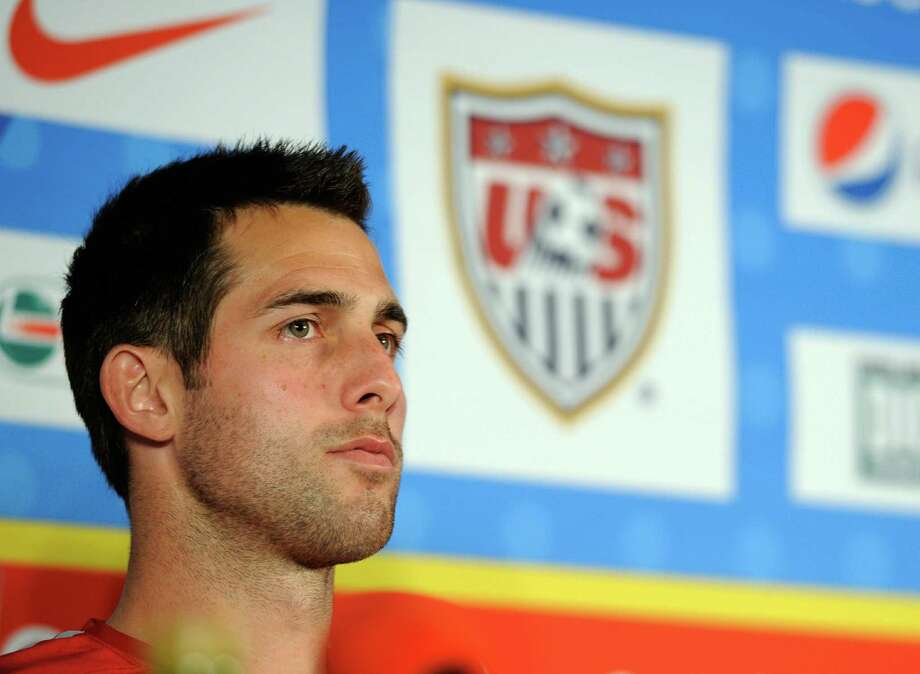 PRETORIA, SOUTH AFRICA - JUNE 01:   Carlos Bocanegra defender of US soccer national team looks on during a news conference on June 1, 2010 in Pretoria, South Africa. USA will face England in their 2010 World Cup opener on June 12.  (Photo by Kevork Djansezian/Getty Images) Photo: Kevork Djansezian, Staff / Getty Images Europe