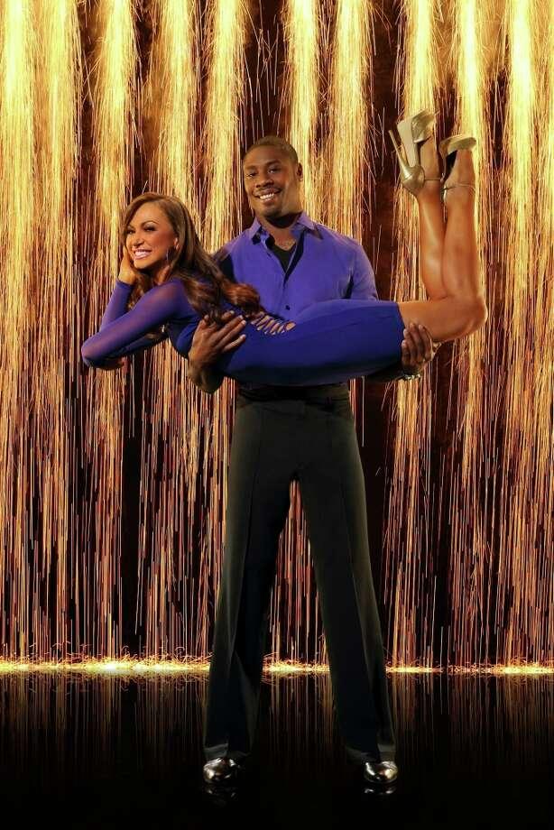 Super Bowl Champion Jacoby Jones partners with Karina Smirnoff.