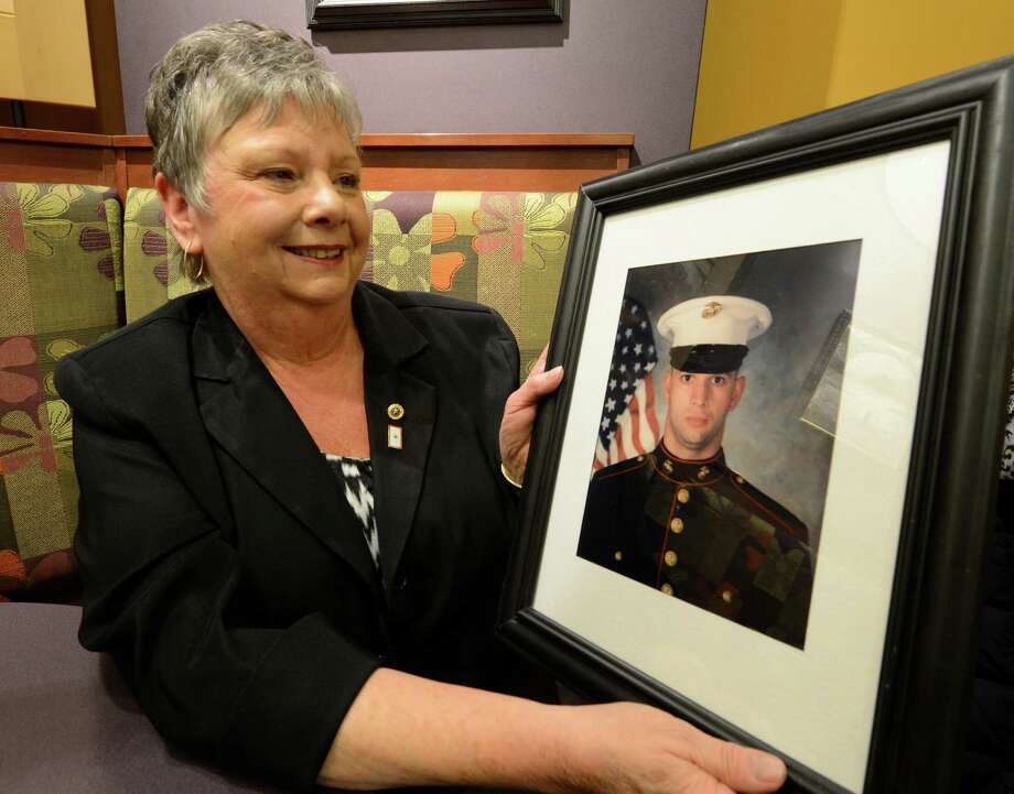 Dawn Martin speaks with the Times Union March 18, 2013, in Albany, N.Y. about her son who died in Irag 10 years ago while serving in the Marine Corp.     (Skip Dickstein/Times Union) Photo: SKIP DICKSTEIN / 10021600A