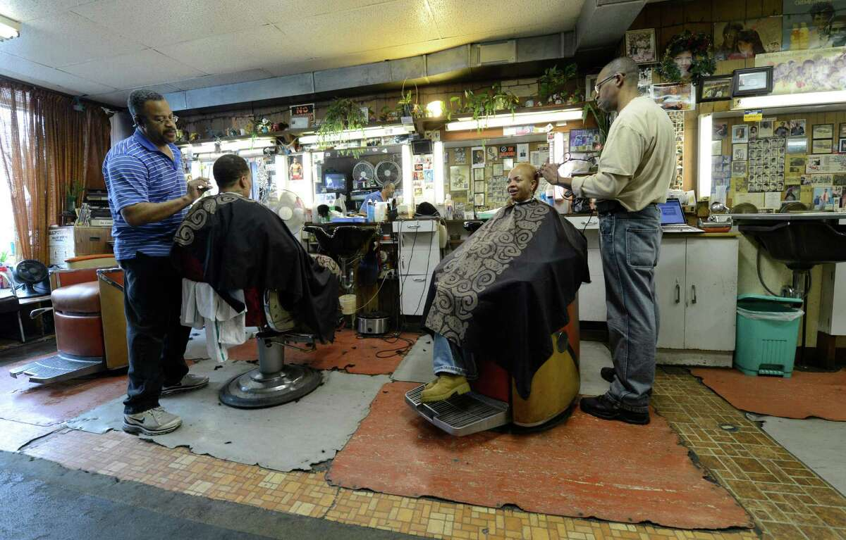 Stancil's Barbershop which was established in 1956 is still in full swing March 8, 2013, and may be one of the oldest barber shops on Albany, N.Y. (Skip Dickstein/Times Union)