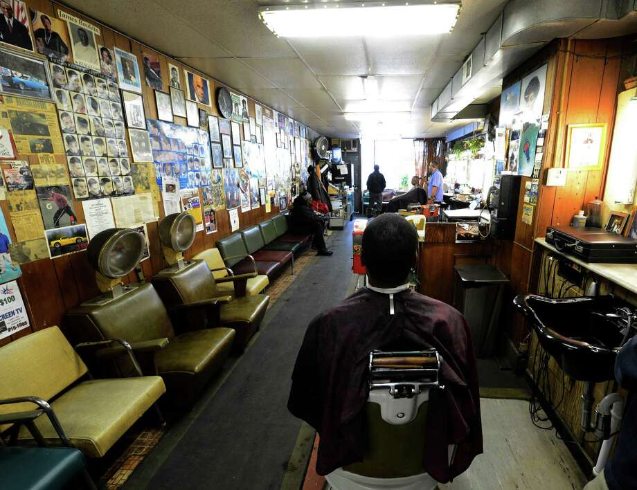 Stancil's Barbershop which was established in 1956 is still in full swing March 8, 2013, and may be one of the oldest barber shops on Albany, N.Y.  (Skip Dickstein/Times Union) Photo: SKIP DICKSTEIN / 10021482A