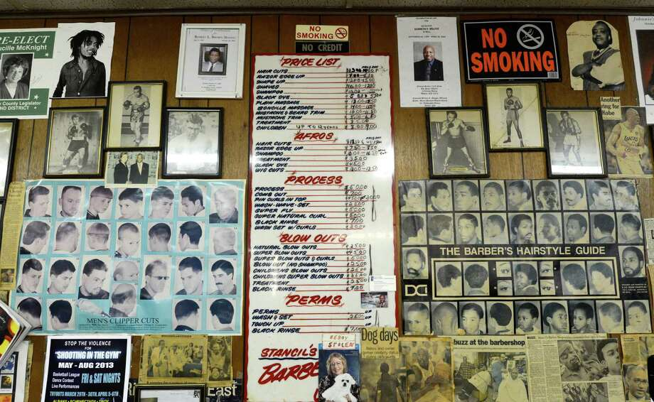 Stancil's Barbershop which was established in 1956 March 12, 2013, and may be one of the oldest barber shops on Albany, N.Y.  (Skip Dickstein/Times Union) Photo: SKIP DICKSTEIN / 10021482A