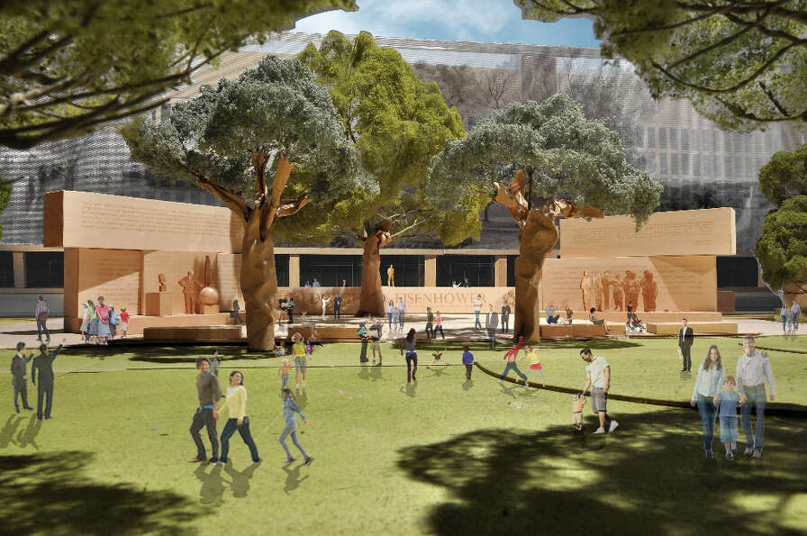 This model image, provided by Eisenhower Memorial Commission, shows the proposed Dwight D. Eisenhowe