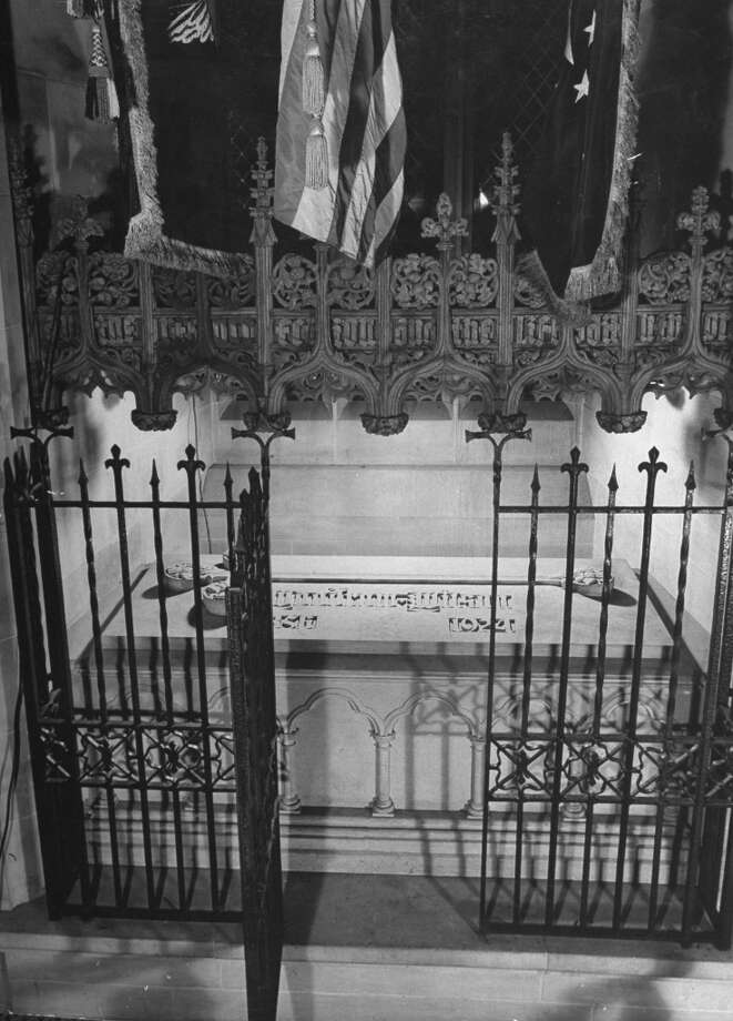 While two presidents -- Kennedy and Taft -- are buried in Arlington National Cemetery, just one is interred in Washington, D.C. itself. That's Woodrow Wilson whose tomb is in the National Cathedral. Photo: Myron Davis, Time & Life Pictures/Getty Image / Time Life Pictures