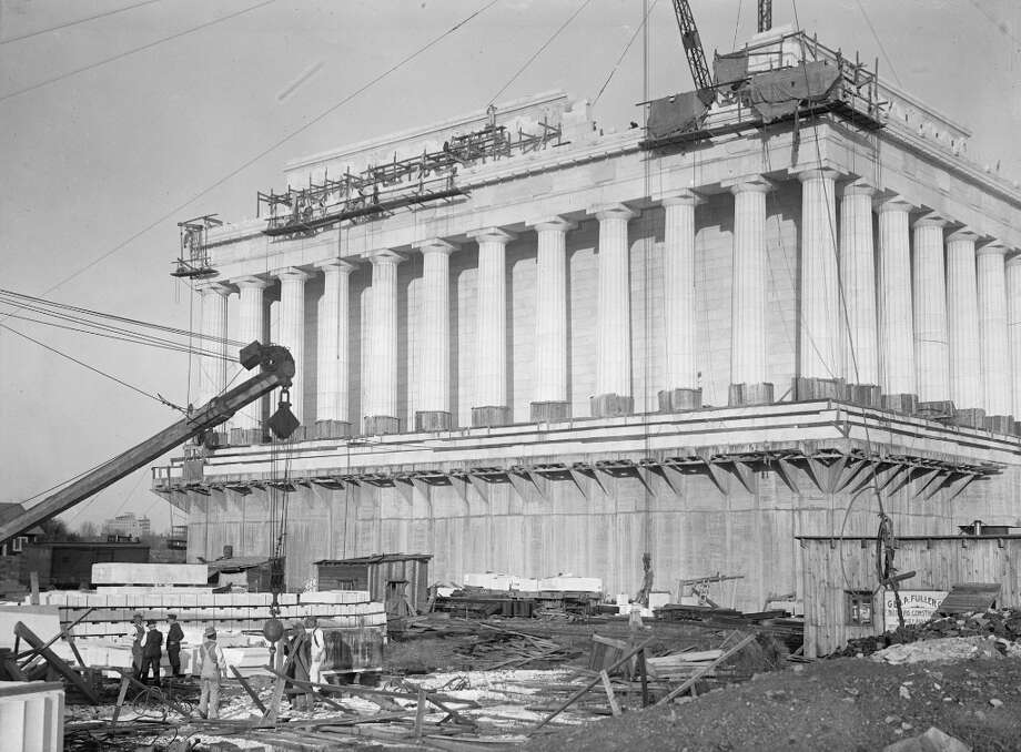 A commission to plan a monument to Abraham Lincoln was first proposed in 1867, shortly after his assassination. The first design called for a ring of 37 colossal statues of people and horses around a 12-foot statue of Lincoln. But lack of funds kept that project from getting started. Congress finally approved funding for the Lincoln Memorial we know in 1910, and construction started four years later.