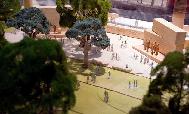 The Dwight D. Eisenhower memorial model is on display during a meeting with the memorial commission at the Dirksen Senate Office Building on May 15, 2012 in Washington, D.C. Photo: The Washington Post, The Washington Post/Getty Images / 2011 The Washington Post
