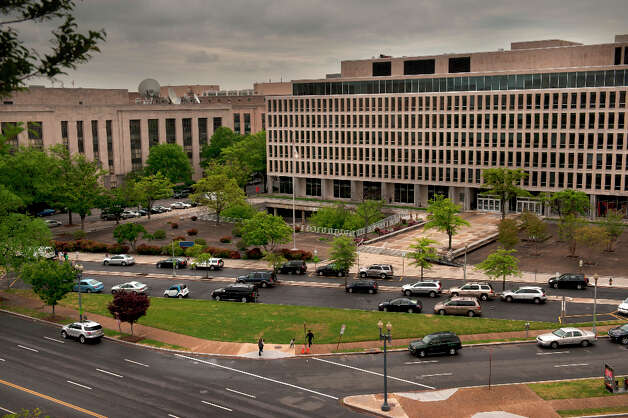 Here's a view of a portion of the site where the Eisenhower memorial would go. It's in front of the  U.S. Department of Education. Photo: The Washington Post, The Washington Post/Getty Images / 2011 The Washington Post