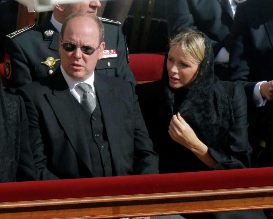 Prince Albert of Monaco and his wife Charlene attend Pope Francis' inaugural Mass, in St. Peter's Square at the Vatican, Tuesday, March 19, 2013. Photo: Dmitry Lovetsky