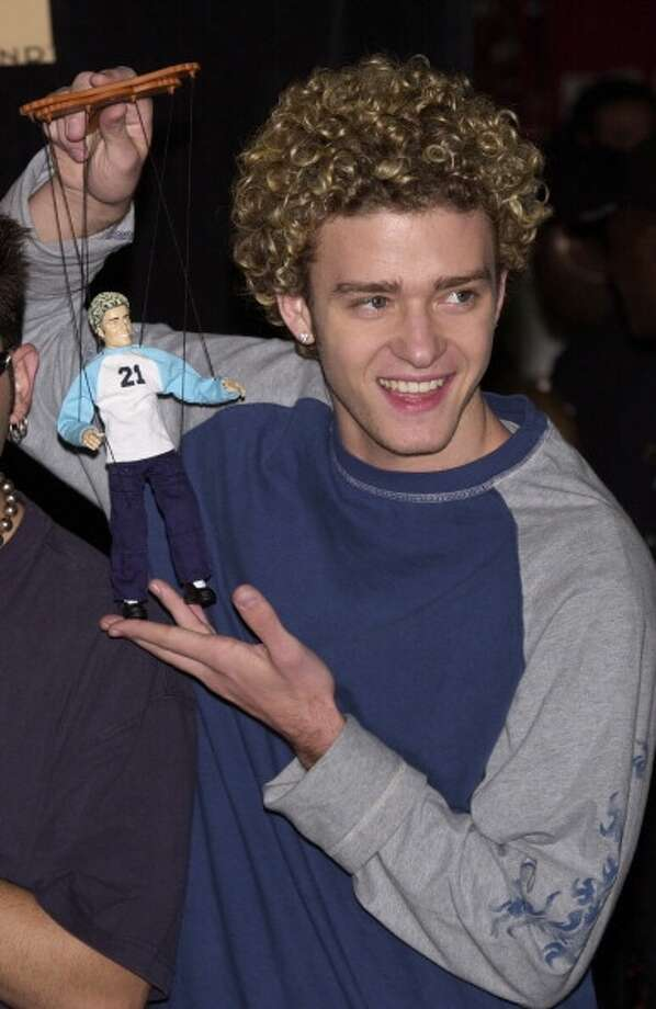 This Justin Timberlake marionette. (2001 photo by Steve W. Grayson/Getty)