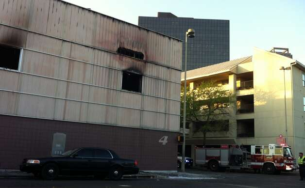 A fire this morning forced the evacuation of WOAI-TV and knocked it off the air. Photo: Ana Ley/Express-News