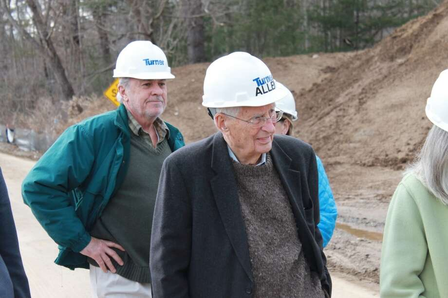 Trustee Emeritus Allen Raymond was part of the group touring the site