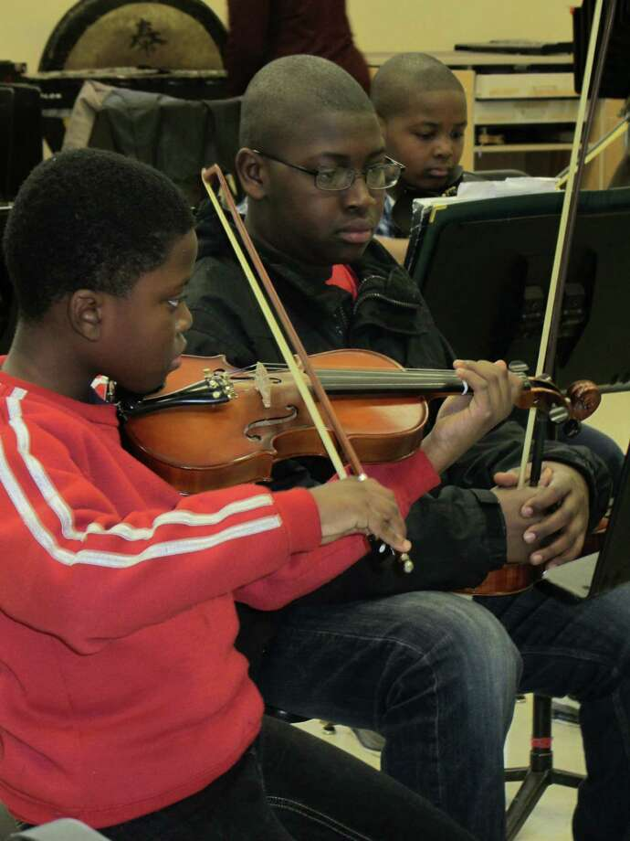 KEYS is working with the Greater Bridgeport Youth Orchestra and together the two non-profits have started an orchestra for KEYS students.  A benefit for KEYS will take place in Darien on Sunday, March 24. Photo: Contributed