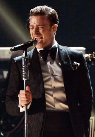 Performing (not in a track suit) at the 2013 Grammys. (Jeff Kravitz/FilmMagic)