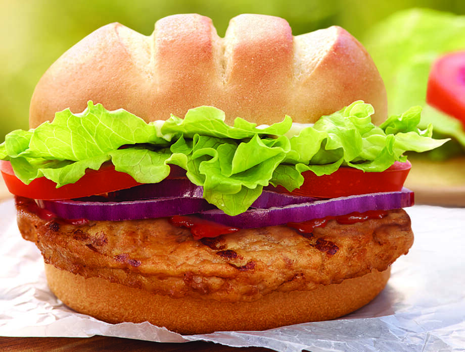 The new turkey burger.  (Photo courtesy Burger King)