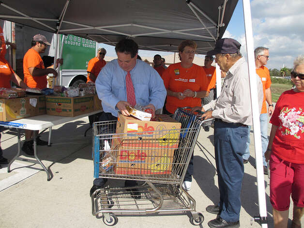 Rep. Blake Farenthold helps the Corpus Christi Food Bank on September 24, 2012. Farenthold is a native of Corpus Christi.