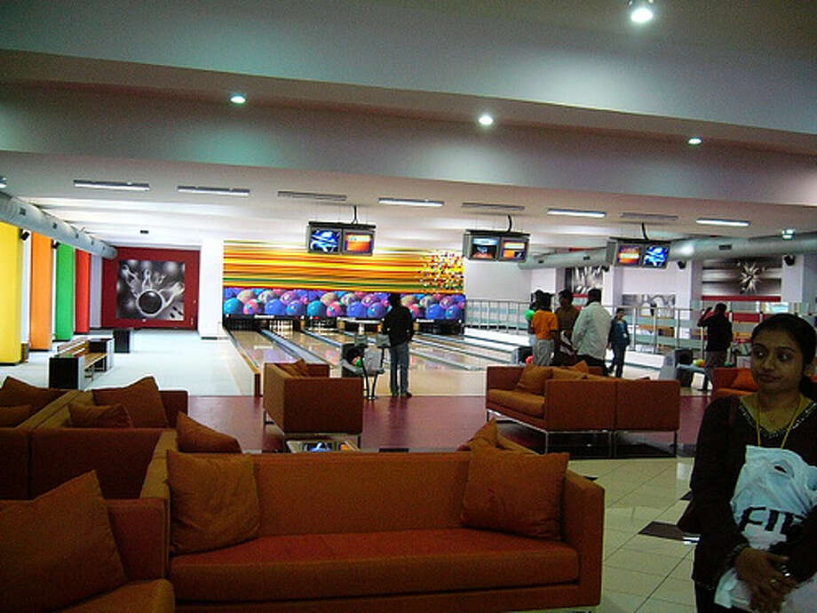 Infosys brings games to one of their offices by adding in a bowling alley. Photo: Mahendra M, FlickrSource: Glassdoor.com