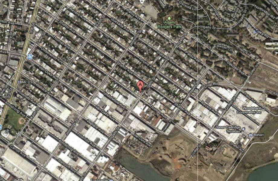 1300 block of Thomas Avenue, San Francisco, CA Photo: Google Maps