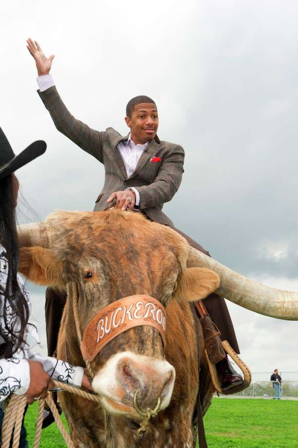 Nick Cannon undoubtedly will make a big entrance at San Antonio tapings like he did in Austin atop a steer.