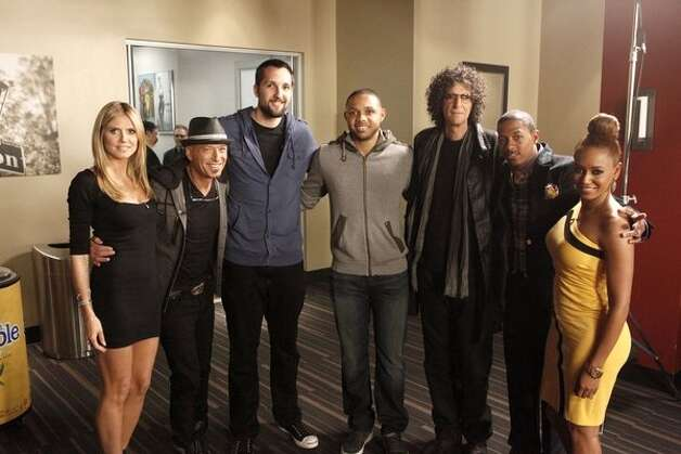 Heidi Klum, Howie Mandel, Ryan Anderson, Eric Gordon (from New Orleans Hornets)  Howard Stern, Nick Cannon, Mel B gather at New Orleans auditions.