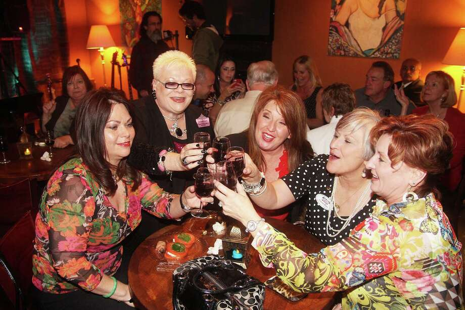Patricia Bolton-Leg, left, Pam Schwertner, Becky Hernandez, Connie Place and Kat Koehler enjoy some of the wine that will be showcased at League City Uncorked, a wine and music event, March 23-24. Patricia Bolton-Leg, left, Pam Schwertner, Becky Hernandez, Connie Place and Kat Koehler enjoy some of the wine that will be showcased at League City Uncorked, a wine and music event, March 23-24. Photo: Pin Lim, Freelance / Copyright Pin Lim.