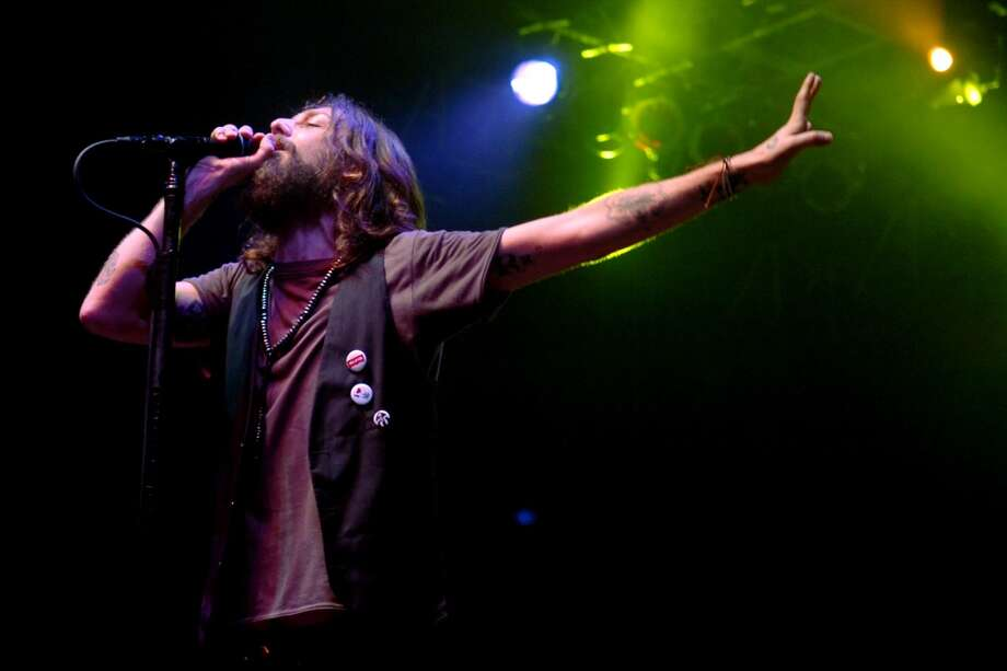 Singer Chris Robinson of the Black Crowes headlines Friday night's Gathering of the Vibes on the main Moon Stage in Bridgeport's Seaside Park, Aug. 1st, 2008. The southern rock band is set to headline the festival again this year.