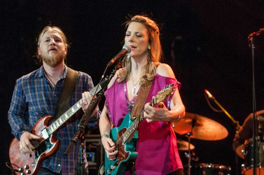 Derek Trucks and Susan Tedeschi perform with the Tedeschi Trucks Band at Red Rocks Amphitheater in Morrison, Colo. on Aug. 30, 2012. The couple is slated to return to the Gathering of the Vibes this summer.