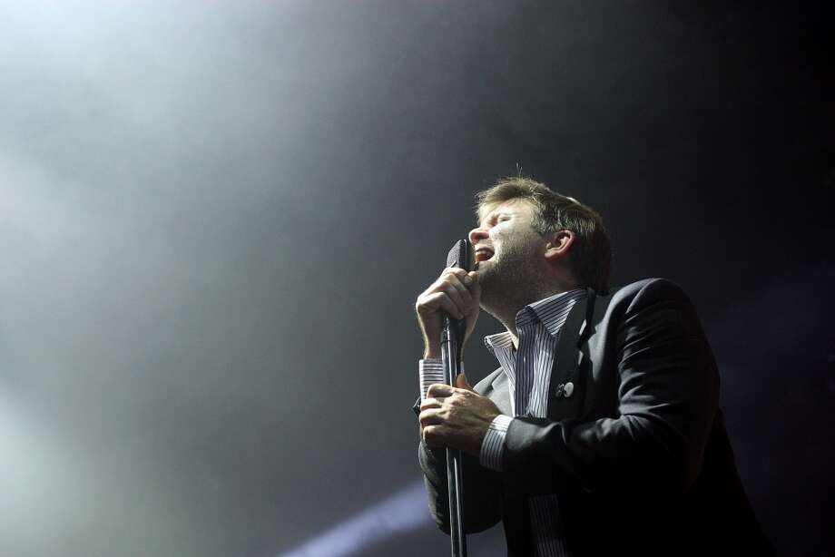 James Murphy of LCD Soundsystem performs on stage during their concert at the Hordern Pavilion on July 26, 2010 in Sydney, Australia. Murphy is slated to perform a late-night DJ set at Gathering of the Vibes this summer.