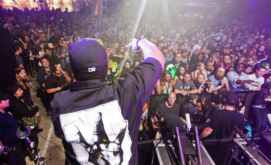 Ice Cube performs at the Doritos Stage during SXSW 2013 on Thursday, March 14, 2013 in Austin, Texas. (AP Photo/Austin American-Statesman, Ricardo Brazziell)  AUSTIN CHRONICLE OUT, COMMUNITY IMPACT OUT, MAGS OUT; NO SALES; INTERNET AND TV MUST CREDIT PHOTOGRAPHER AND STATESMAN.COM Photo: Ricardo Brazziell / Austin American-Statesman